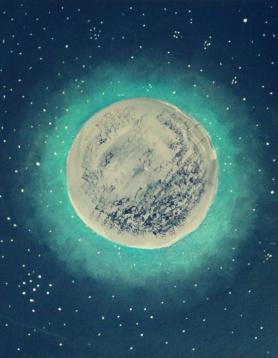 Mystic Moon Acrylic Painting - Misadison's Art - Paintings & Prints