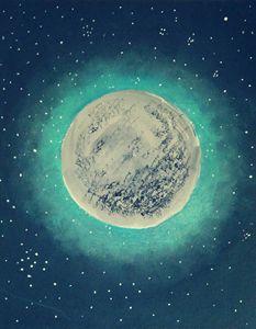 Mystic Moon Acrylic Painting
