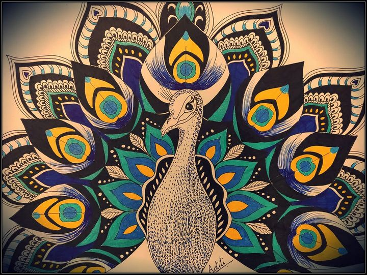 Peacock drawing - Misadison's Art - Drawings & Illustration, Animals