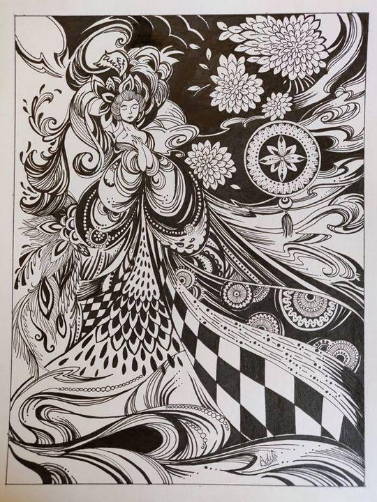 Abstract woman - Misadison's Art