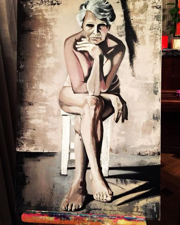 the old woman - Vera Khvedelidze's ART