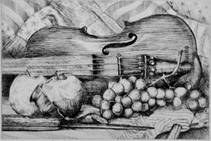 Violin Etching