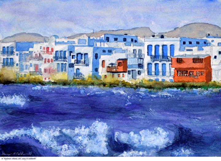 Mykonos Town View, Greece - Gary R. Caldwell | CADesign, Art & Photos