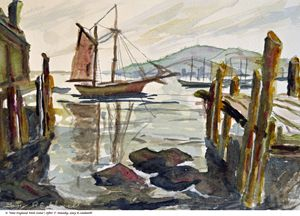 New England Dock Scene - Gary R. Caldwell | CADesign, Art & Photos