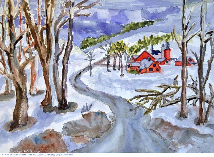 New England Winter Scene #02 - Gary R. Caldwell | CADesign, Art & Photos
