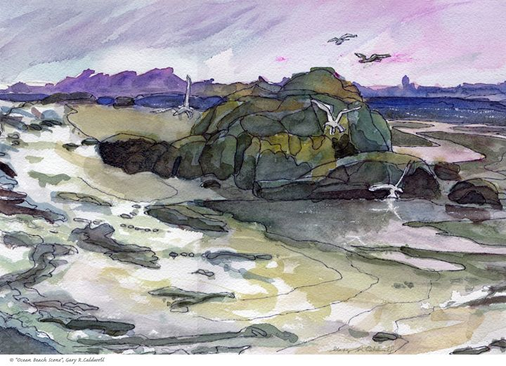 Ocean Beach Scene - Gary R. Caldwell | CADesign, Art & Photos