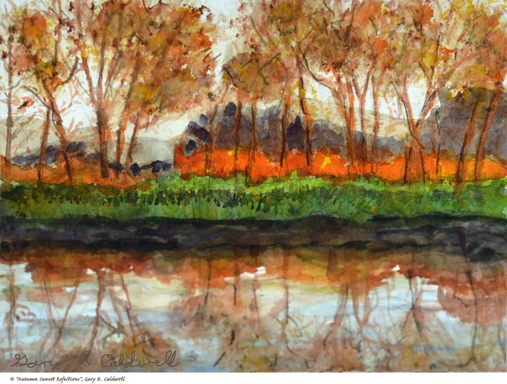 Autumn Sunset Refections - Gary R. Caldwell | CADesign, Art & Photos