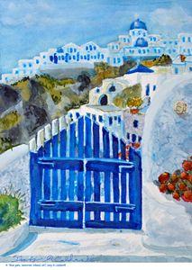 Santorini Island_Blue Gate_Greece - Gary R. Caldwell | CADesign, Art & Photos