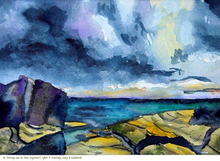 Stormy Sea in New England - Gary R. Caldwell   CADesign, Art & Photos