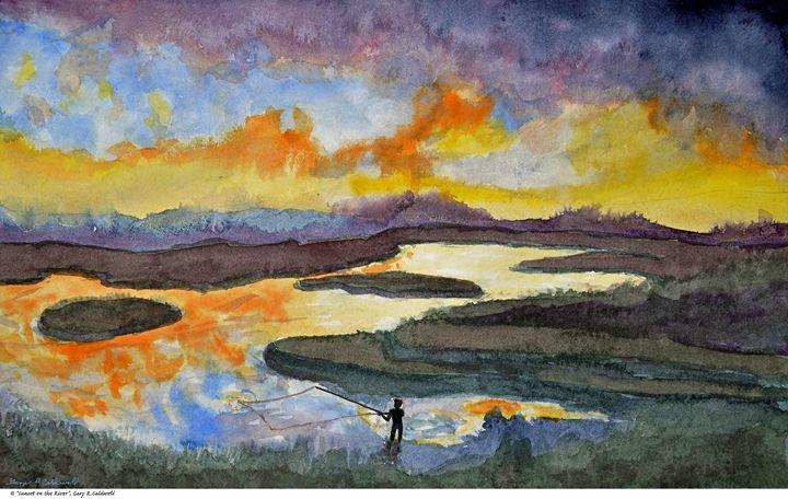 Sunset on the River - Gary R. Caldwell | CADesign, Art & Photos