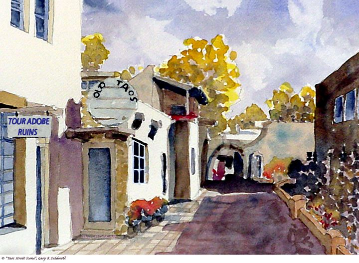 Taos Stree Scene - Gary R. Caldwell | CADesign, Art & Photos