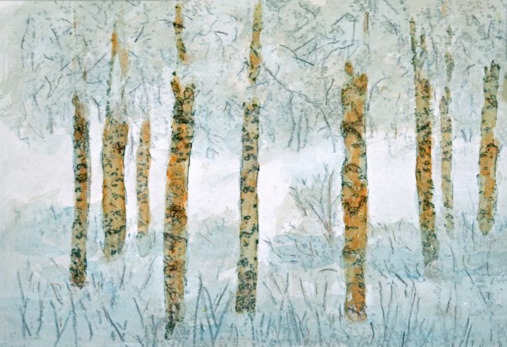 Winter Birch Trees - Gary R. Caldwell | CADesign, Art & Photos