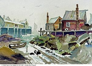 Winter Day at a New England Port - Gary R. Caldwell | CADesign, Art & Photos