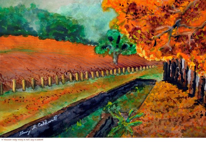 Alexander Valley Winery in Fall - Gary R. Caldwell | CADesign, Art & Photos