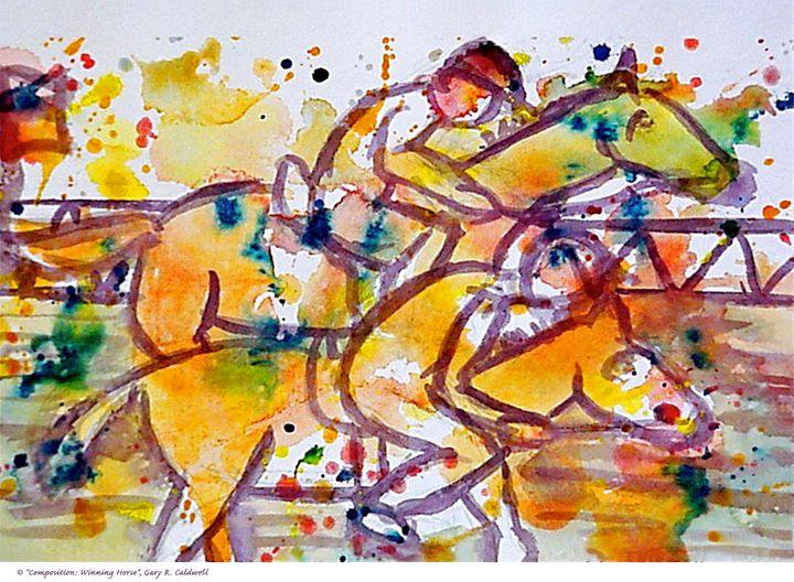 Composition—Wining Horse - Gary R. Caldwell   CADesign, Art & Photos