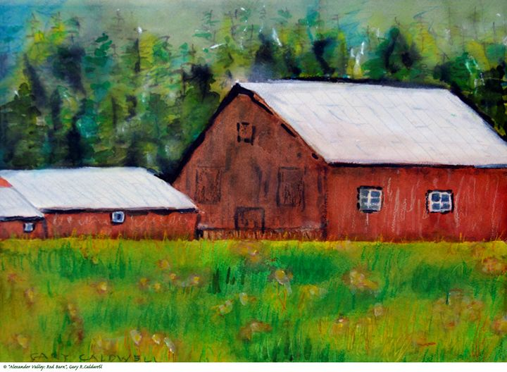 Alexander Valley—Red Barn - Gary R. Caldwell | CADesign, Art & Photos