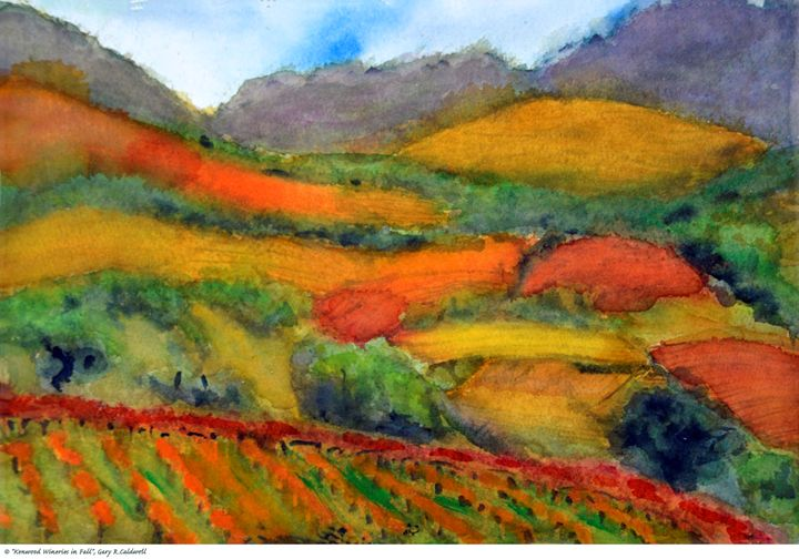 Kenwood Wineries in Fall - Gary R. Caldwell | CADesign, Art & Photos