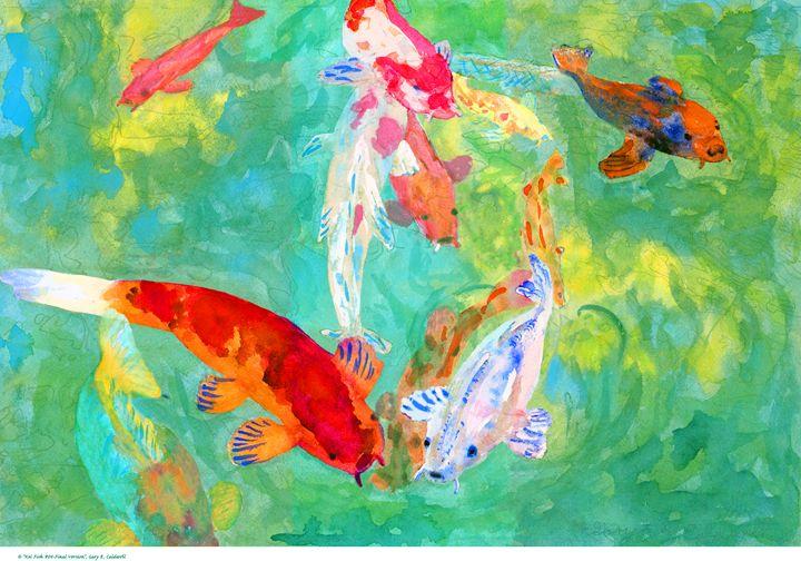 Koi Fish #04-Final Version - Gary R. Caldwell | CADesign, Art & Photos