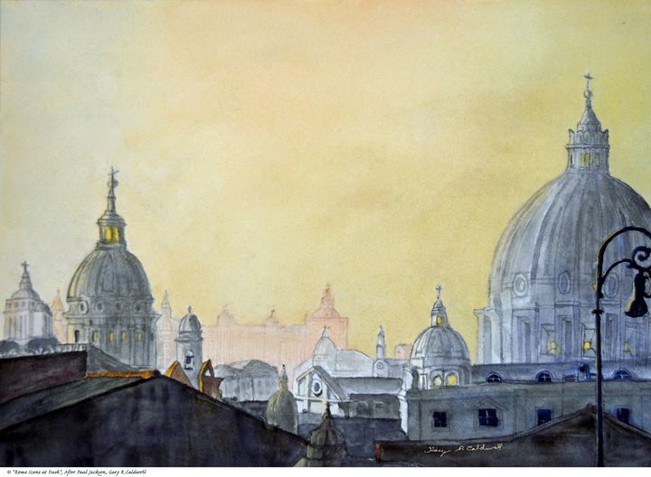 Rome at Dusk - Gary R. Caldwell | CADesign, Art & Photos