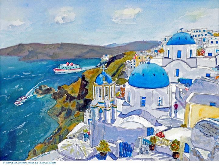 View of Oia, Santolini Island, GR - Gary R. Caldwell | CADesign, Art & Photos