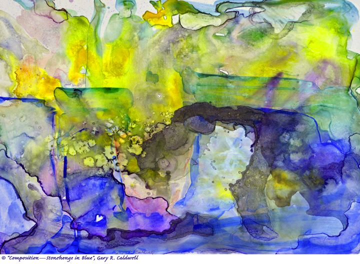 Digital-Stonehenge in Blue - Gary R. Caldwell | CADesign, Art & Photos