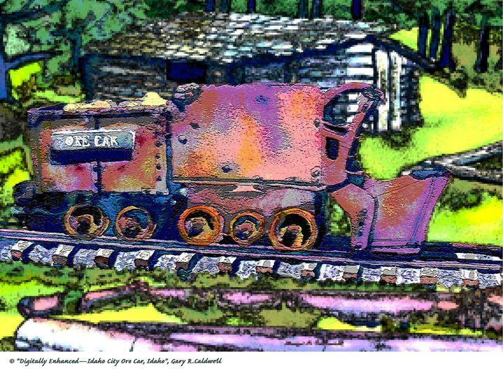 Dig Enhanced-Idaho City Ore Car, ID. - Gary R. Caldwell   CADesign, Art & Photos
