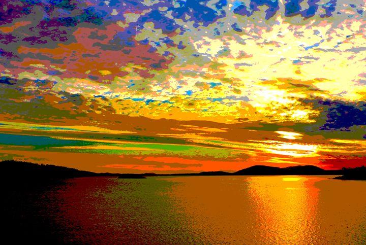 Sunset Style Painting: Digital Art - E.L. Brooke Fine Art & Design