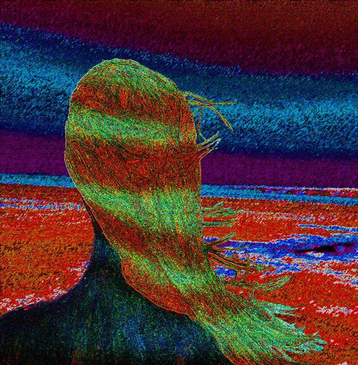 Girl Overlooking Ocean - E.L. Brooke Fine Art & Design