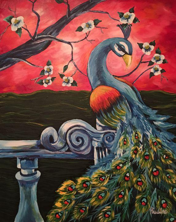 Peaceful peacock - Pauline's Paintings