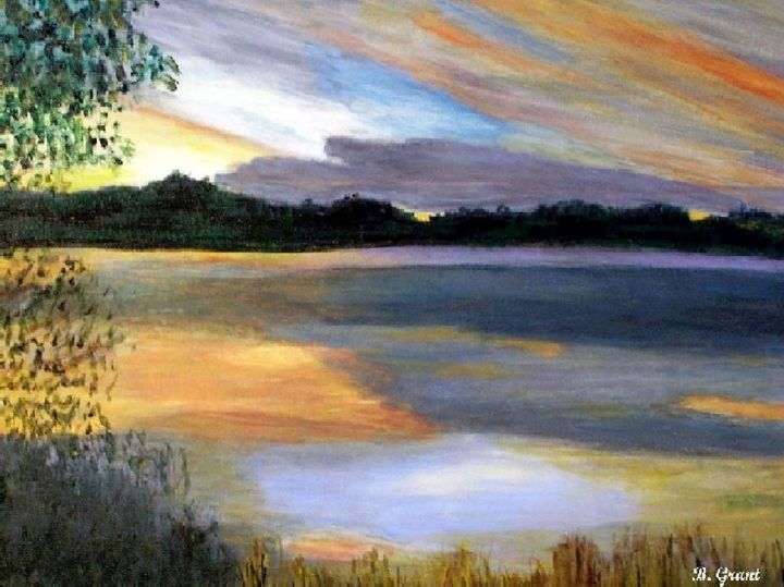 Sunrise at the Lake - B Grant Art