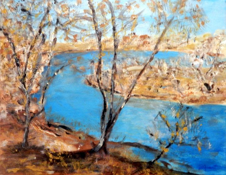 At the Bend of the River - B Grant Art