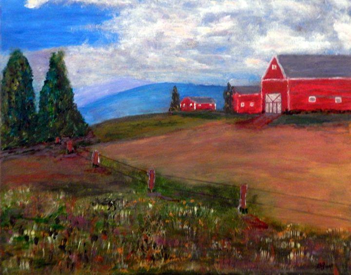 Red Barns - B Grant Art