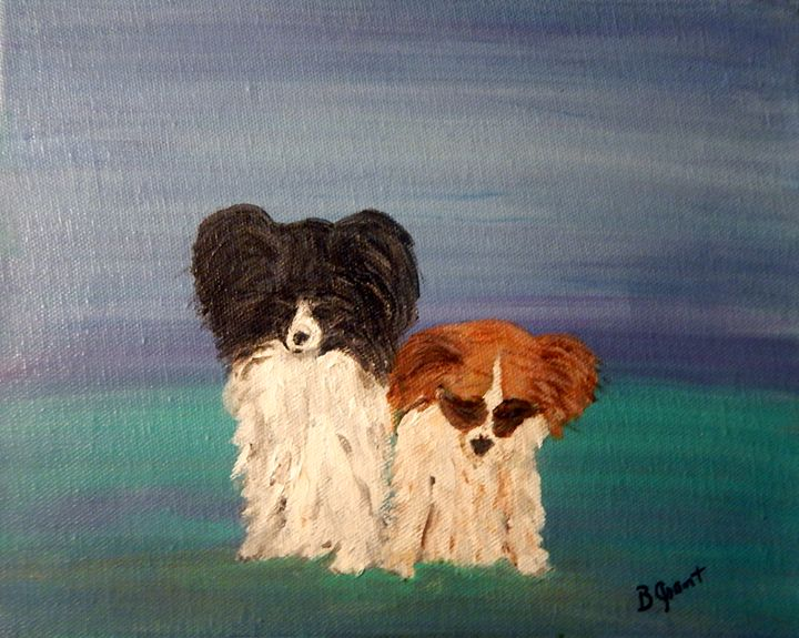 Papillon Banditos - B Grant Art