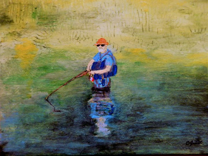 Fly Fishing - B Grant Art