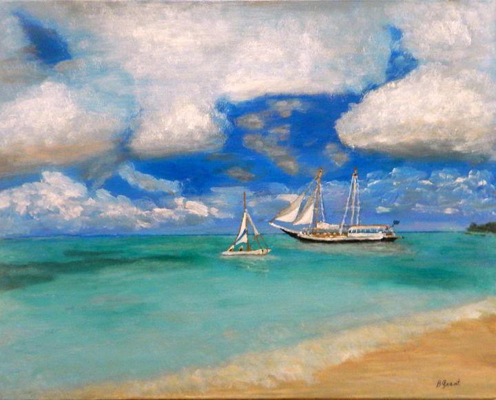 Sailing in Aruba - B Grant Art