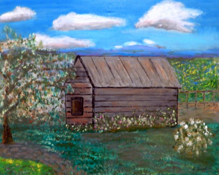 Old Grey Shed - B Grant Art