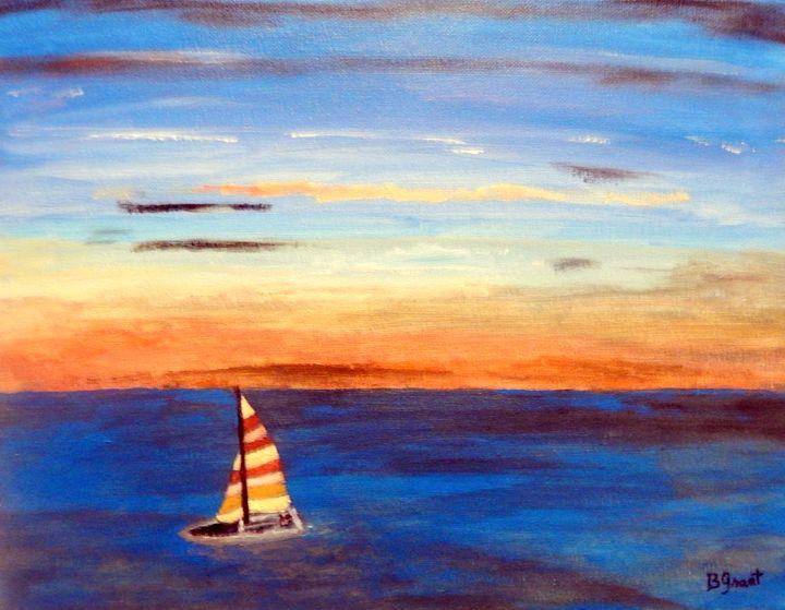 Sailing at Sunrise - B Grant Art