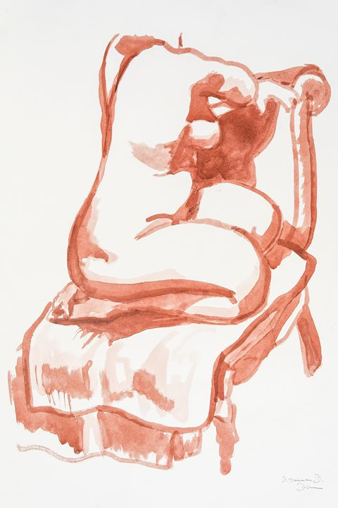Seated nude - Norina Art