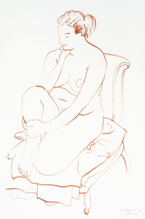 Seated nude II - Norina Art