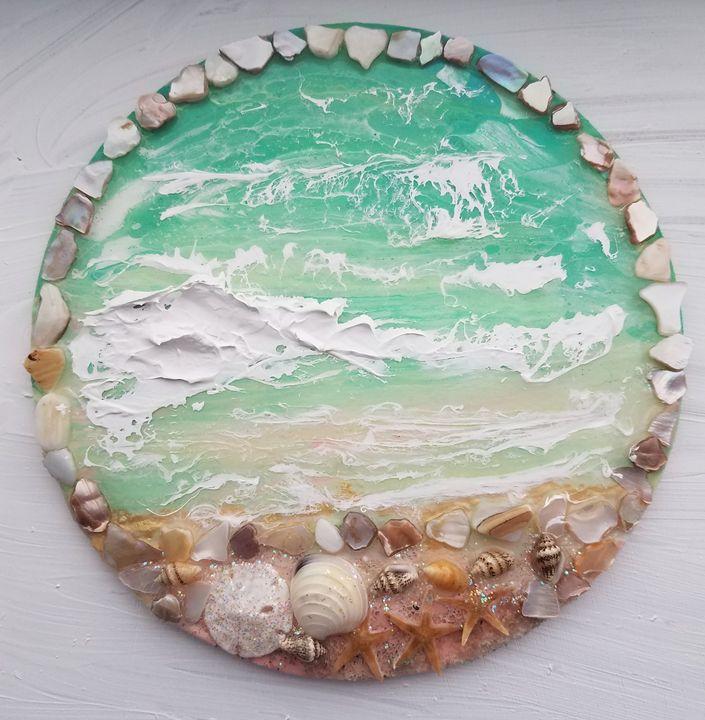 """Tranquilidad"" 6.5"" Beach Wall Art - The Art Mermaid"