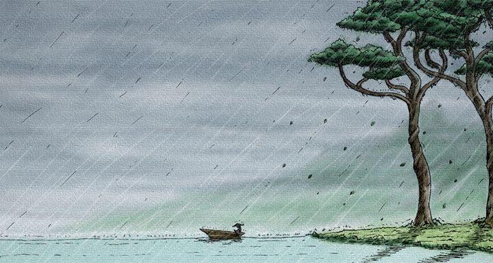 Rain on the boat - Haris Ramadi