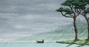 Rain on the boat