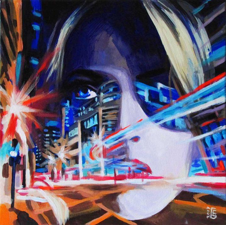 Neon motion - Kateyna Bortsova