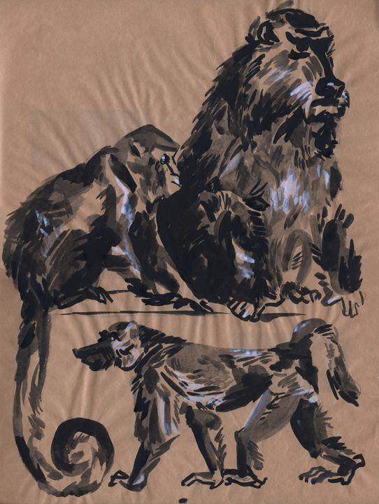 Monkey family - Kateyna Bortsova