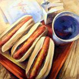 Hot Dog Serigraphy Print - 22¼x24