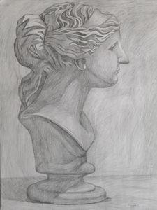 Woman Statue Sketch