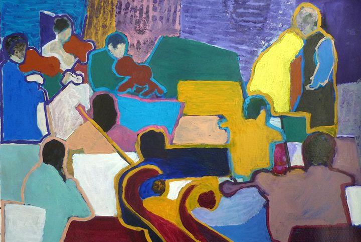Series of Musicians nº8 - Artwork by the Artist Inaki Crespo