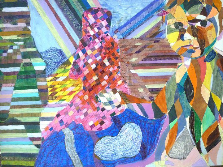 Three chidren - Artwork by the Artist Inaki Crespo
