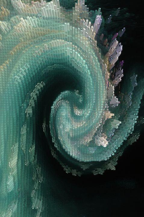 Aquamarine Crystals Crashing - Gregory Patrick Lafferty