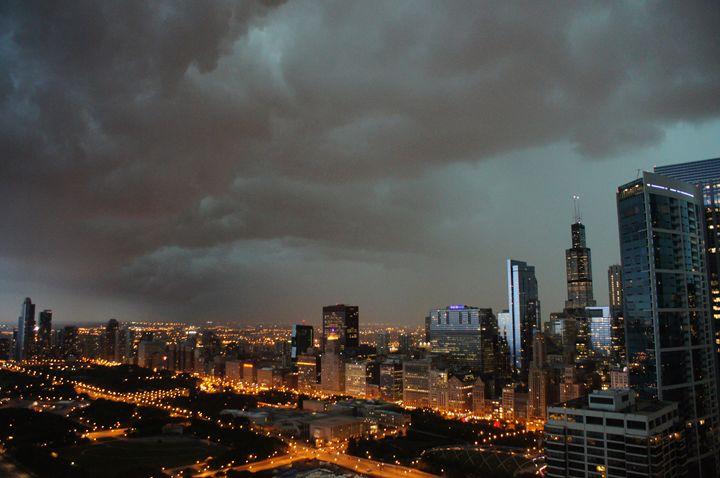 Thunderstorm Above The City - Gregory Patrick Lafferty